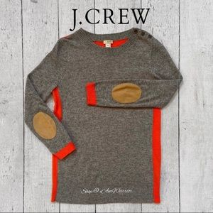 J. Crew colorblock elbow patch crewneck sweater